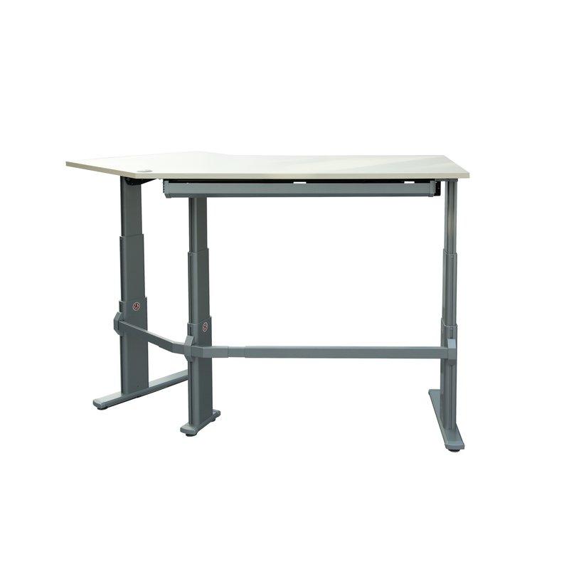 h henverstellbarer schreibtisch winkel 135 shop office. Black Bedroom Furniture Sets. Home Design Ideas